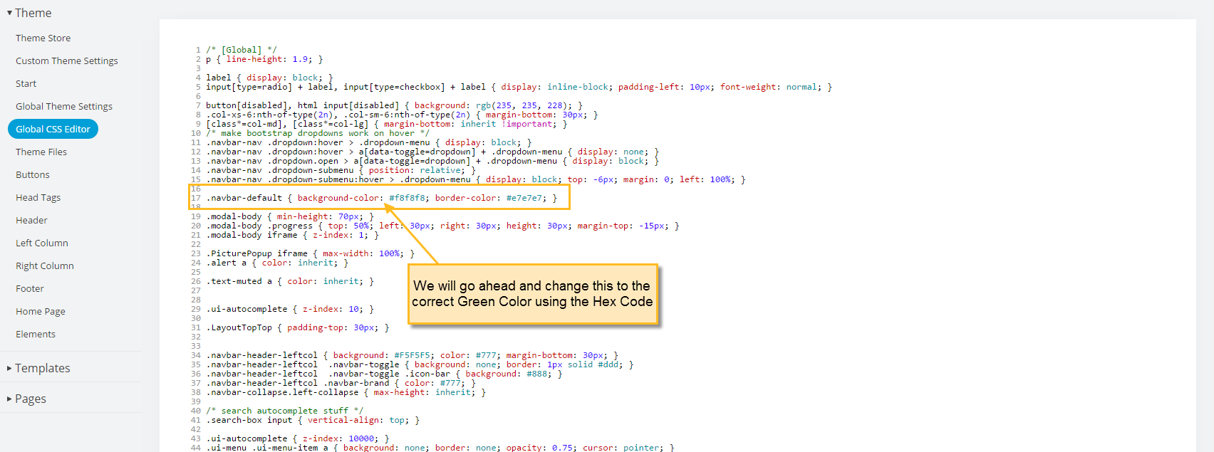 How to find the correct CSS class for editing – Knowledge Center